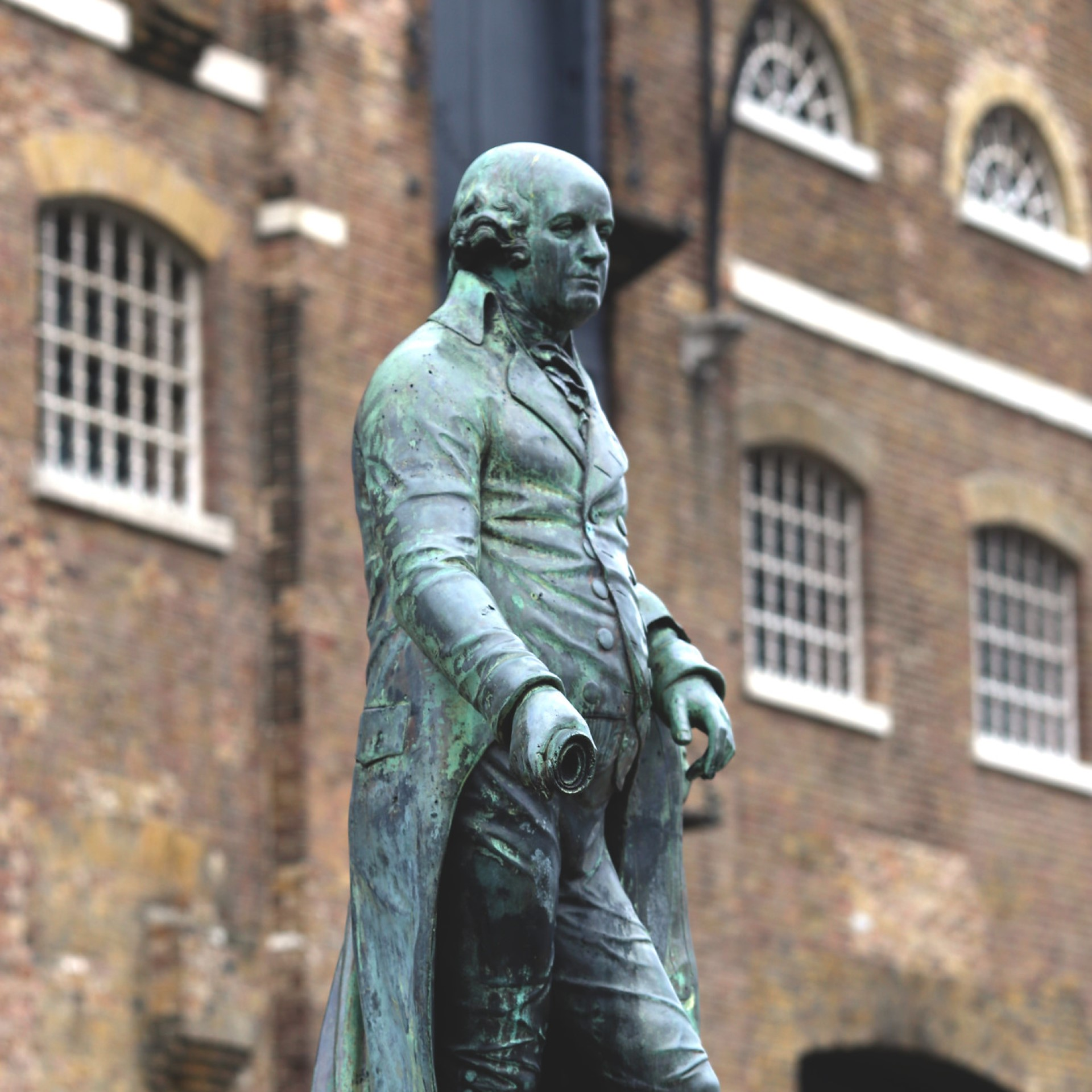 Statue of slaveholder Robert Milligan at West India Quay, east London